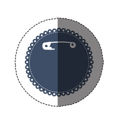 Sticker silhouette with diaper hook in rounded vector