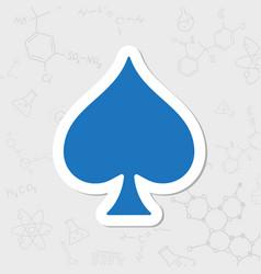 Game spade icon vector