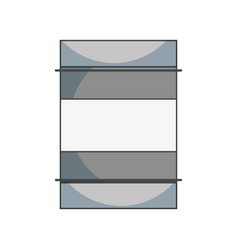 Metal tank to conservation and environment care vector