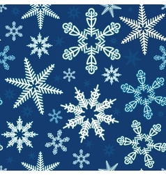 Seamless of white snowflakes vector image