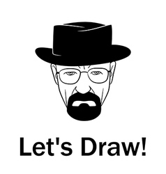 Lets draw man in a hat with beard vector