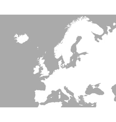 Map of europe vector