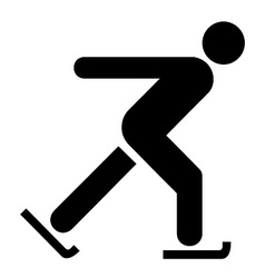 Skating symbol vector