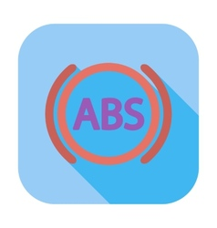 Abs flat single icon vector