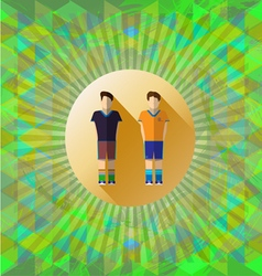 Abstract green design with two football and soccer vector image