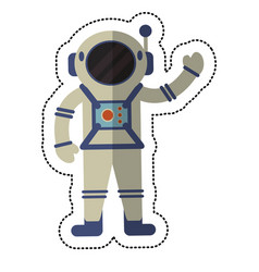 Astronaut exploration suit space shadow vector