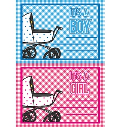 Birth cards vector