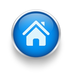 Blue home icon vector image