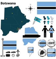 Botswana map vector image vector image