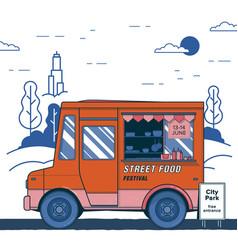 Concept of street food festival poster with vector