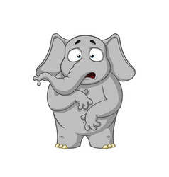 elephant character surprised he is surprised vector image
