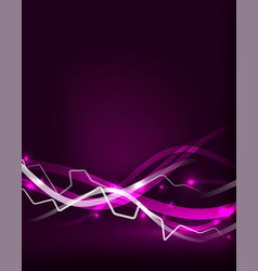 glowing wavy lines template vector image vector image
