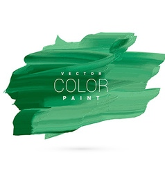 green water color paint stain design vector image