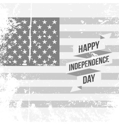 Happy independence day festive ribbon on usa flag vector