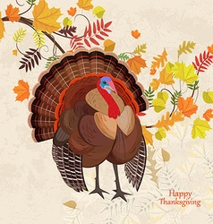 invitation card with beautiful turkey and colorful vector image