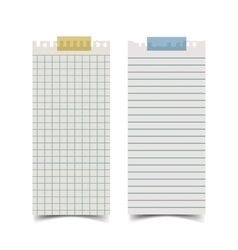 Long rectangle shape blank old notepaper and for vector image