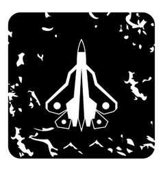 Military fighter icon grunge style vector