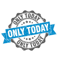 only today stamp sign seal vector image vector image
