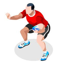 Rugby Sevens 2016 Sports 3D Isometric vector image vector image