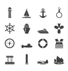Sailing and Sea Icons vector image