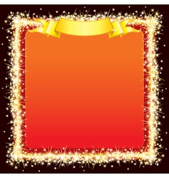 sparkling bright frame vector image vector image