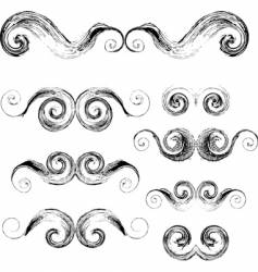 swirls elements vector image vector image