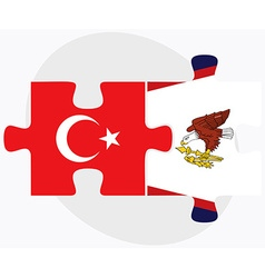 Turkey and american samoa flags vector