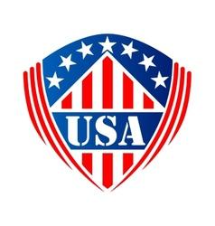 Usa heraldic shield symbol vector image vector image