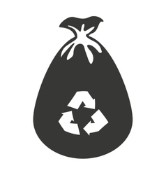 Bag recycle garbage icon vector