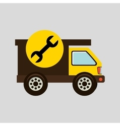 Construction gear icon spanner vector