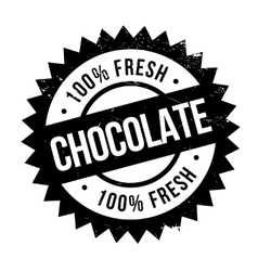 Chocolate stamp rubber grunge vector