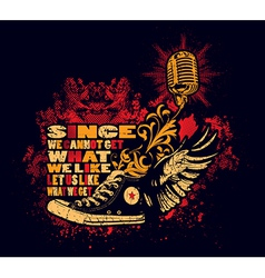 Punk shoes and microphone vector image