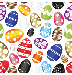 Easter eggs color design with decoration pattern vector