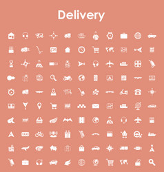 Set of delivery simple icons vector