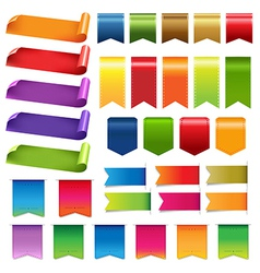 Colourful labels and ribbons vector image