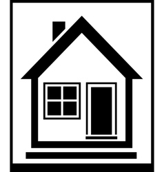 Isolated home silhouette vector