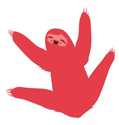 Cute red sloth vector