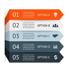 Business arrows infographic diagram graph vector