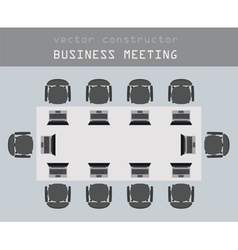 Business meeting working place in flat design vector