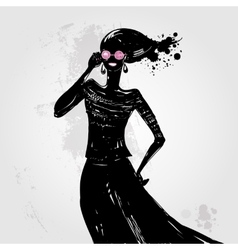 Beautiful fashion woman vector