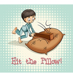 Old saying hit the pillow vector
