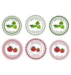 Logo design element vegetables packing vector