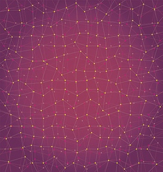 Abstract background geometry lines and points vector image