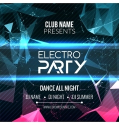 Modern Electro Party Template Dance Party Flyer vector image