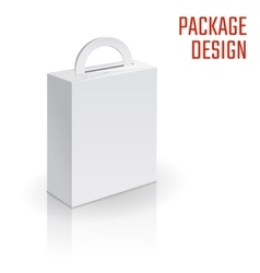 Folding pack white vector