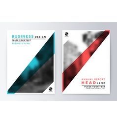 Cover design blue and red template brochure vector