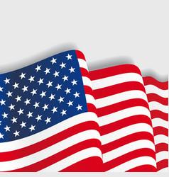 American waving Flag vector image vector image