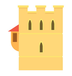 Ancient fortress icon cartoon style vector