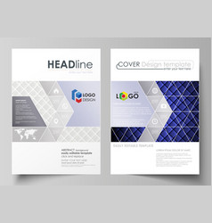 Business templates for brochure flyer report vector
