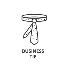business tie line icon outline sign linear vector image